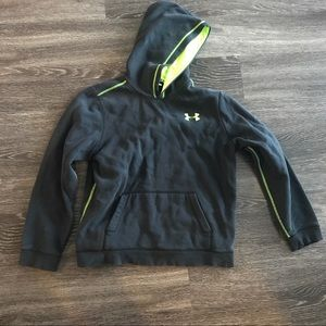 Black and neon green under Armour hoodie